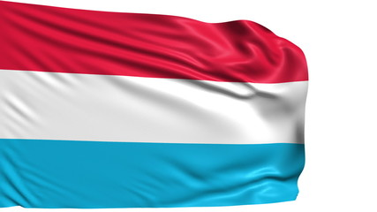 flag of Luxembourg with fabric structure; looping