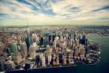 manhattan view in new york