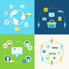 Sharing Economy and Collaborative Consumption Illustration