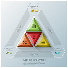 Modern Triangle And Hexagon Business Infographic