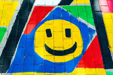Smiley painting