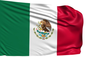 flag of Mexico with fabric structure; looping