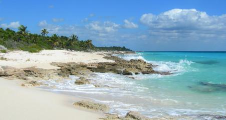 Rocky Caribbean beach at the Atlantic