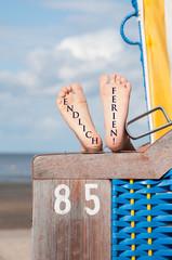 Endlich Ferien - Strandkorb