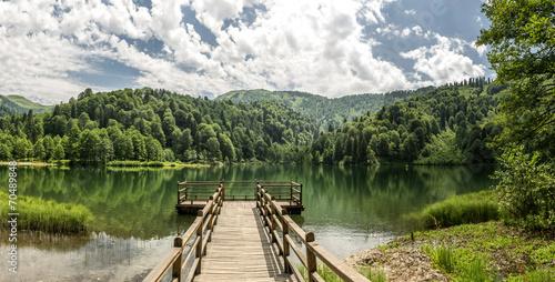 Fototapeta Beautiful lake and pier