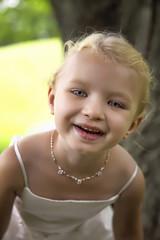 Happy Blonde Flower Girl