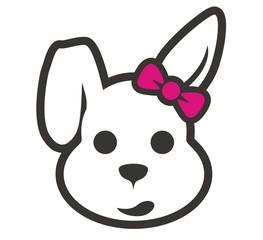 head rabbit cartoon