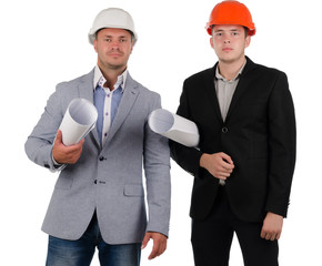 Confident young architectural team