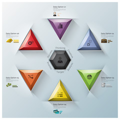 Modern Fusion Triangle And Hexagon Business Infographic
