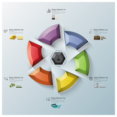 Modern Rotate Propeller Three Dimension Polygon Business Infogra