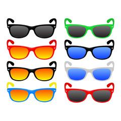 Retro and modern sunglasses