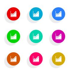 histogram flat icon vector set