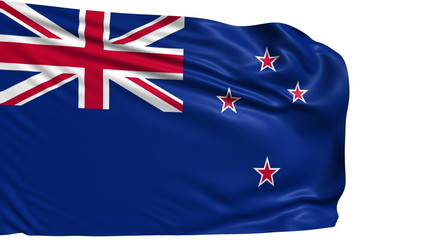 flag of the New Zealand with fabric structure; looping