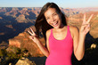 Asian hiker - hiking woman portrait, Grand Canyon