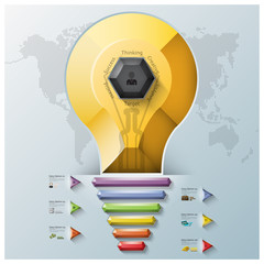 Light Bulb Three Dimension Polygon And Triangle Hexagon Business