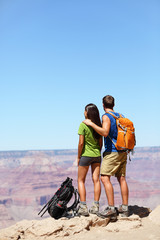 Hikers in Grand Canyon - Hiking couple