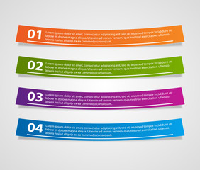 Colorful ribbons infographic. Design element.