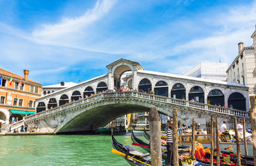 Rialto bridge in Venice. Italy