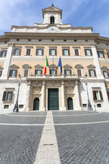 Palazzo Montecitorio is a building in Rome, where the seat of th