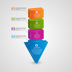 Abstract 3d arrow infographic design concept.