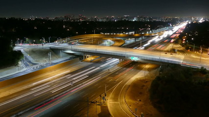 San Diego Freeway Night Time Lapse with Zoom