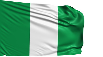 flag of Nigeria with fabric structure; looping