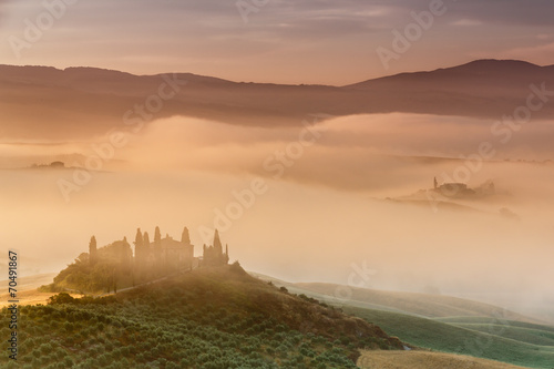 Sunrise in countryside of Tuscany - 70491867