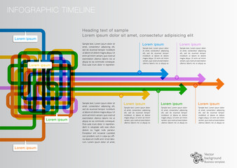 Infographics Vector Background #Timeline