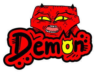 Demon sticker
