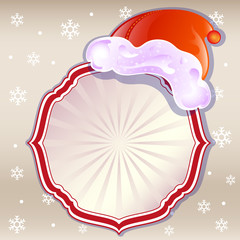 Christmas frame, vector.