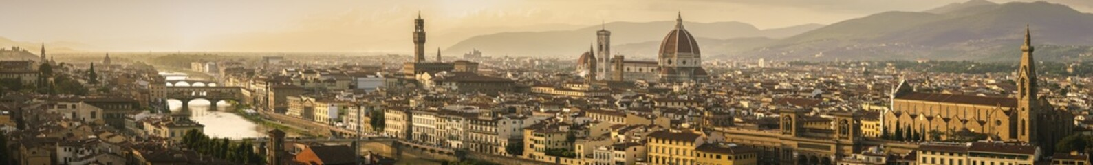 Magnificent panoramic view of Florence, Italy