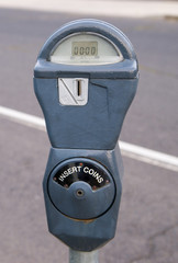 Vintage Coin Paid Parking Meter Streetside Spokane Washington