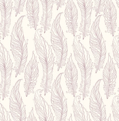 Seamless pattern feathers.