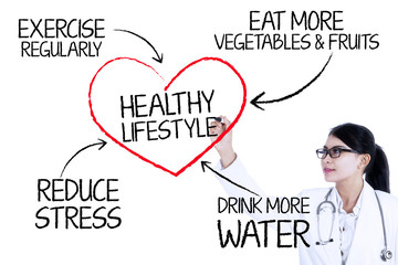 Presentation of healthy lifestyle concept