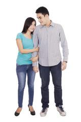 Portrait of full length asian couple