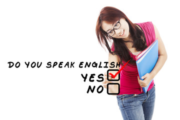 Student learning english 2