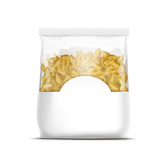 Vector Pasta Shells Packaging Template Isolated