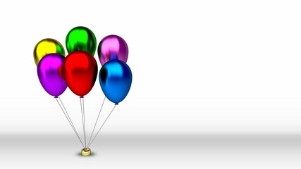 colorful birthday balloons - loop able video