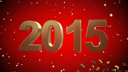 4K VID - Here Comes The New Year 2015 - Red - ray-traced