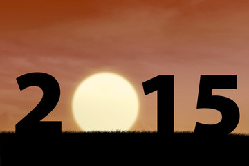 Sunset in the beginning year of 2015