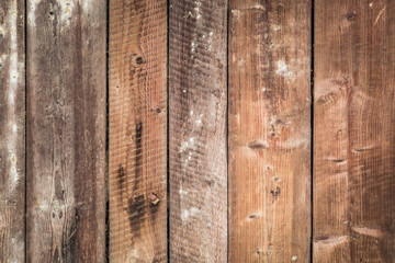 Old brown wooden wall background