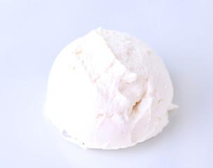 Vanilla ice cream  isolated on white