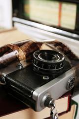 Old retro camera, close-up
