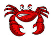 Cartoon red crab character - 70495217