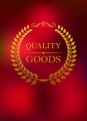 Quality goods emblem