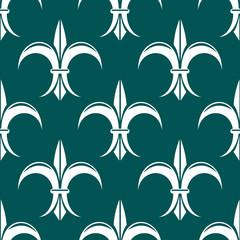 Seamless fleur-de-lis royal white pattern