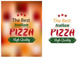 Best Italian pizza poster