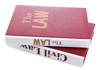 Books of Law isolated on white