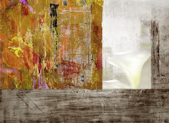 Montage on Wood Panel