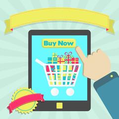 Buy online through tablet